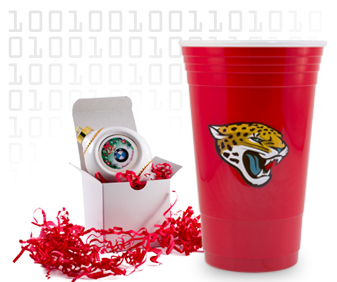 plastic cup with digital heat transfer product decoration