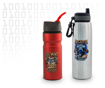 sporting goods decoration on a thermos from digital heat transfer